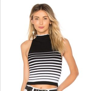 Free People Black and White Crop Size XS